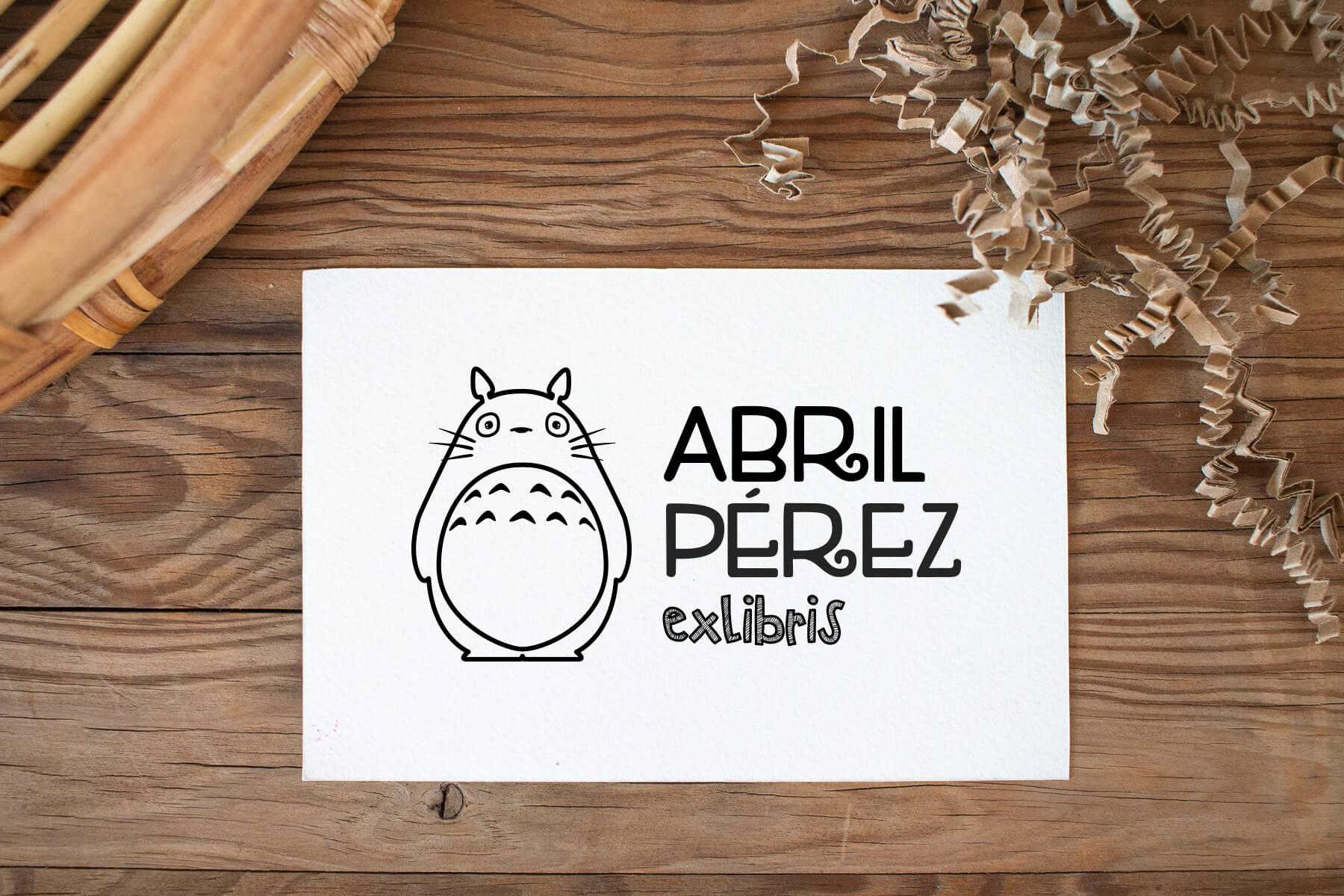 Exlibris personalizados para niños, modelo Totoro