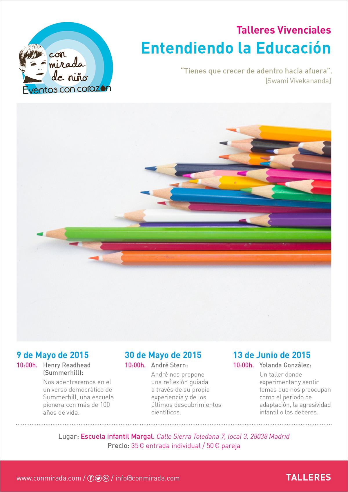 Cartel conferencias vivenciales Entendiendo la Educación