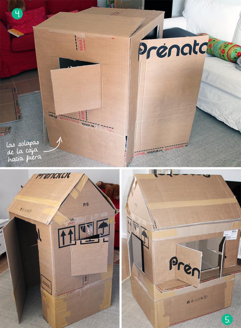 Cómo hacer una casita de cartón, estructura