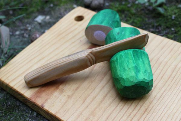 Comida de madera en trozos, by duo fiberworks. Tutoriales y plantillas