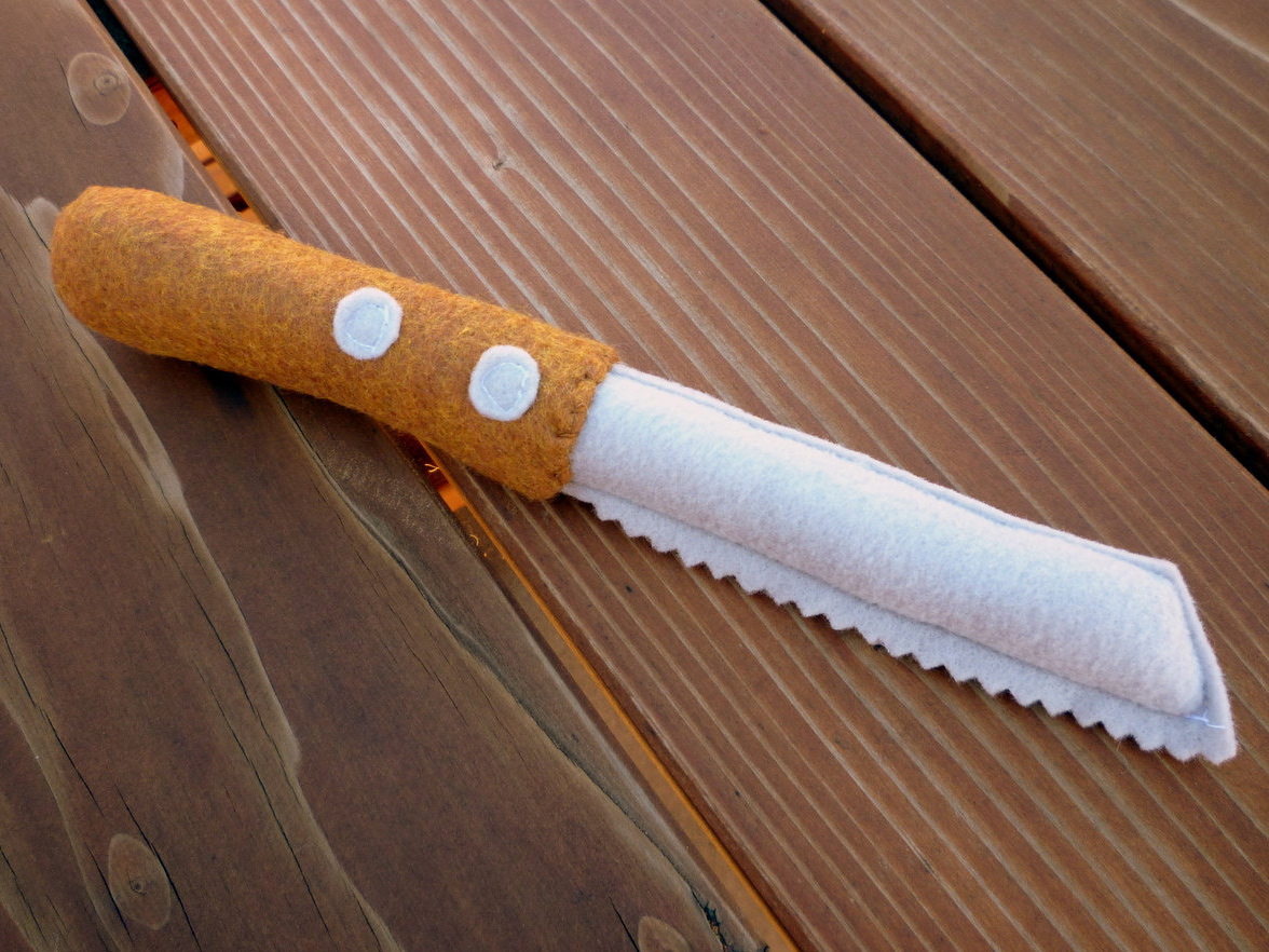 Cuchillo de fieltro de juguete, de little fruits