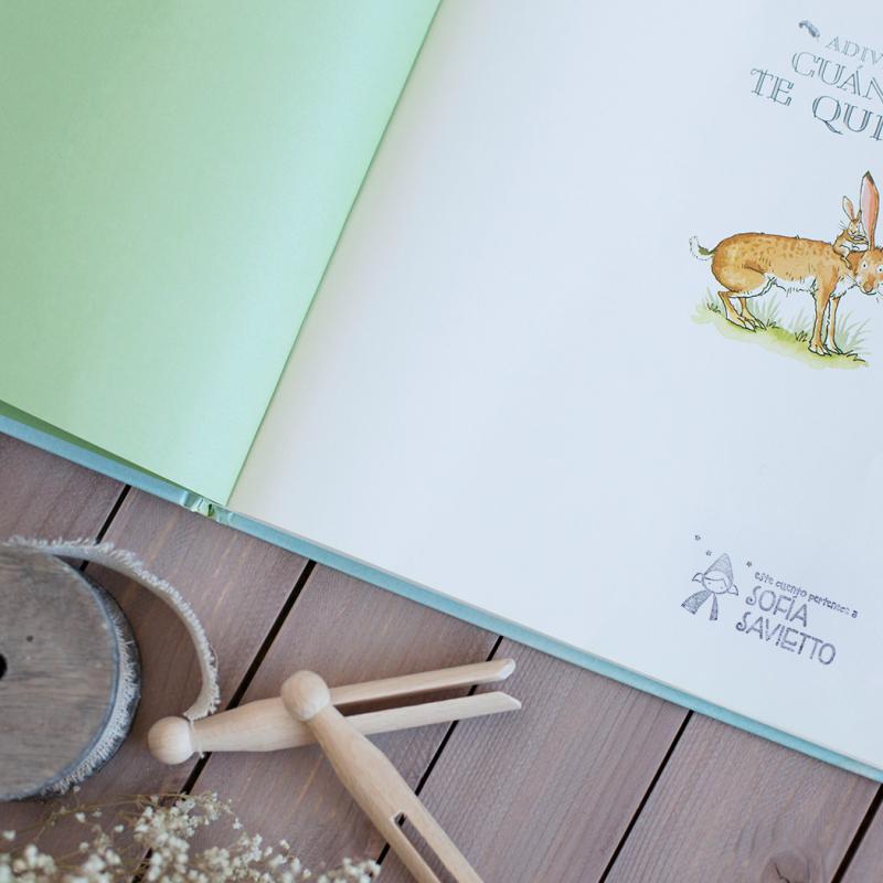 Exlibris personalizados para niños, modelo caperucita