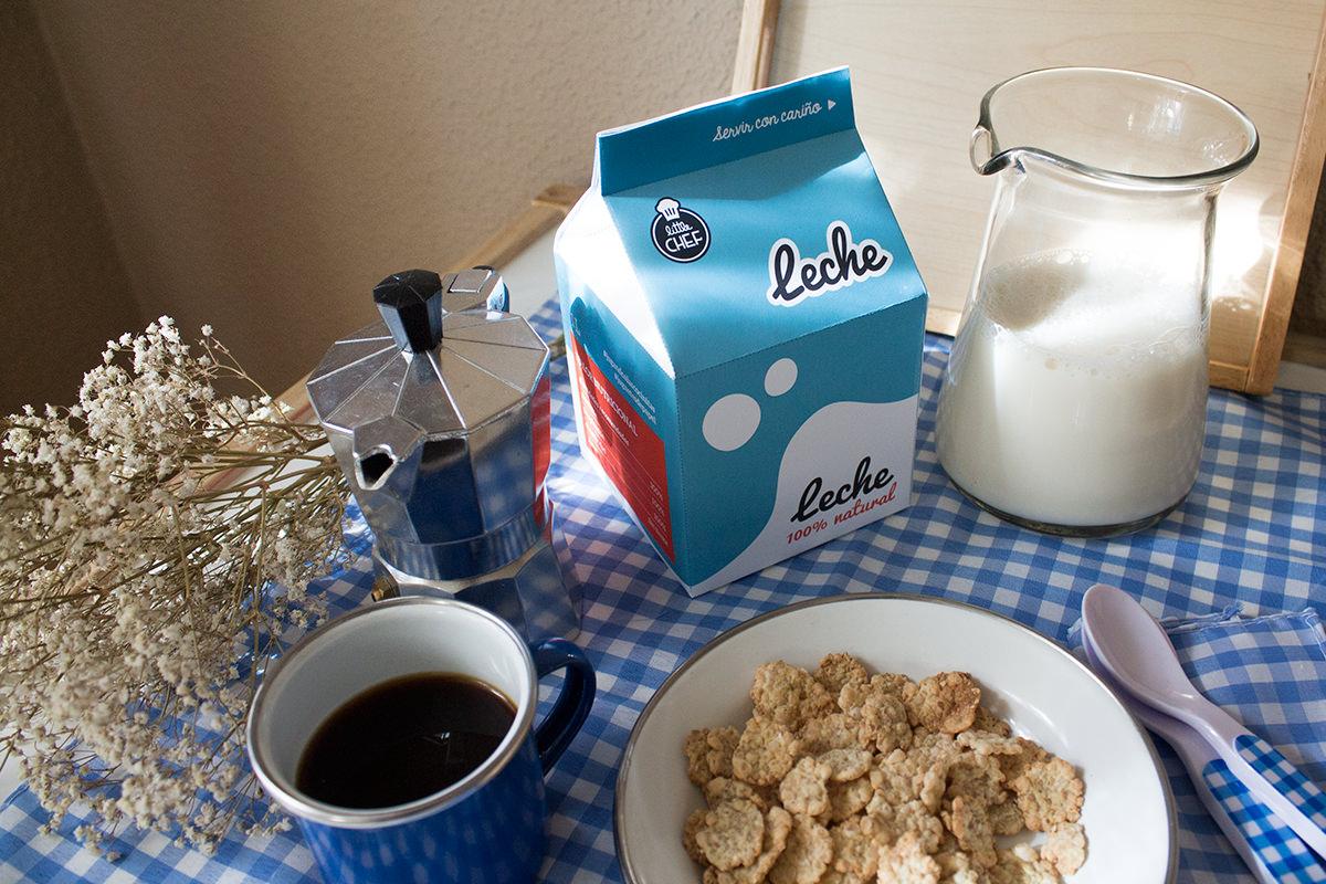 Imprimible comida de juguete. Brick de leche