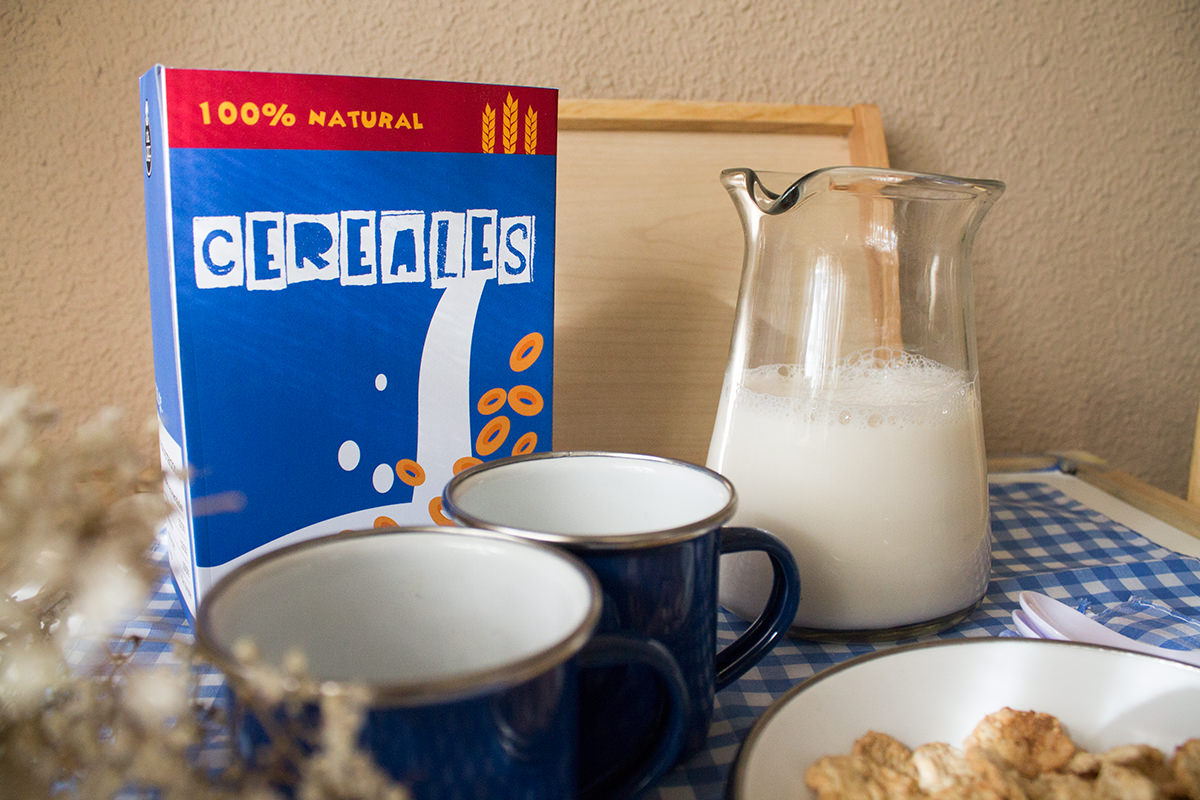 Imprimible comida de juguete. Caja de cereales