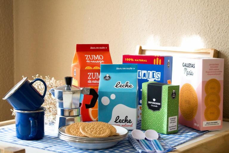Set de desayuno imprimible. Juguetes de papel (descargable gratis)