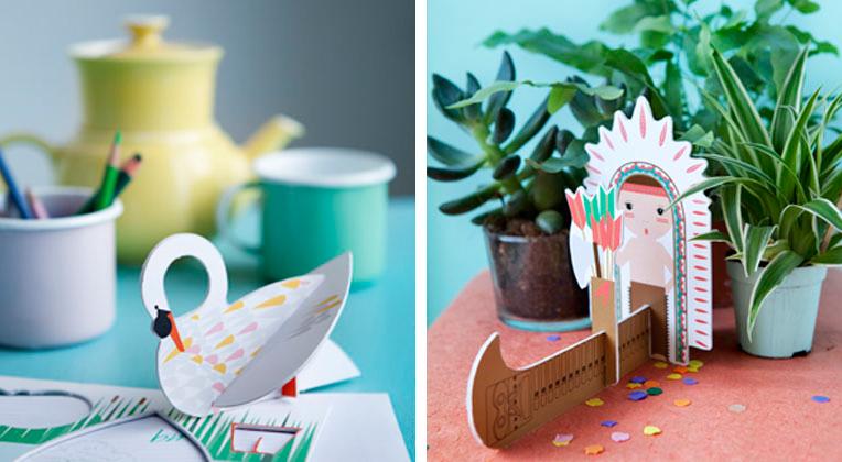 Kids of roof, juguetes hechos de cartón