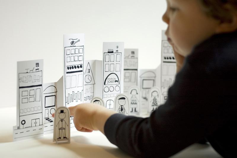 Ciudad de papel para jugar, de made by joel (plantilla descargable)