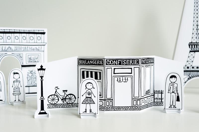 Ciudad de París de papel para jugar, de made by joel (plantilla descargable)