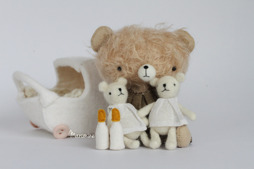 Manomine bear with babies