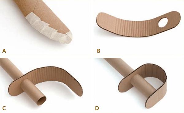 Pasos para hacer empuñadura de una espada de juguete hecha de cartón