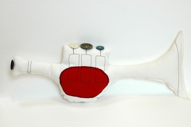Instrumentos de juguete, trompeta de tela