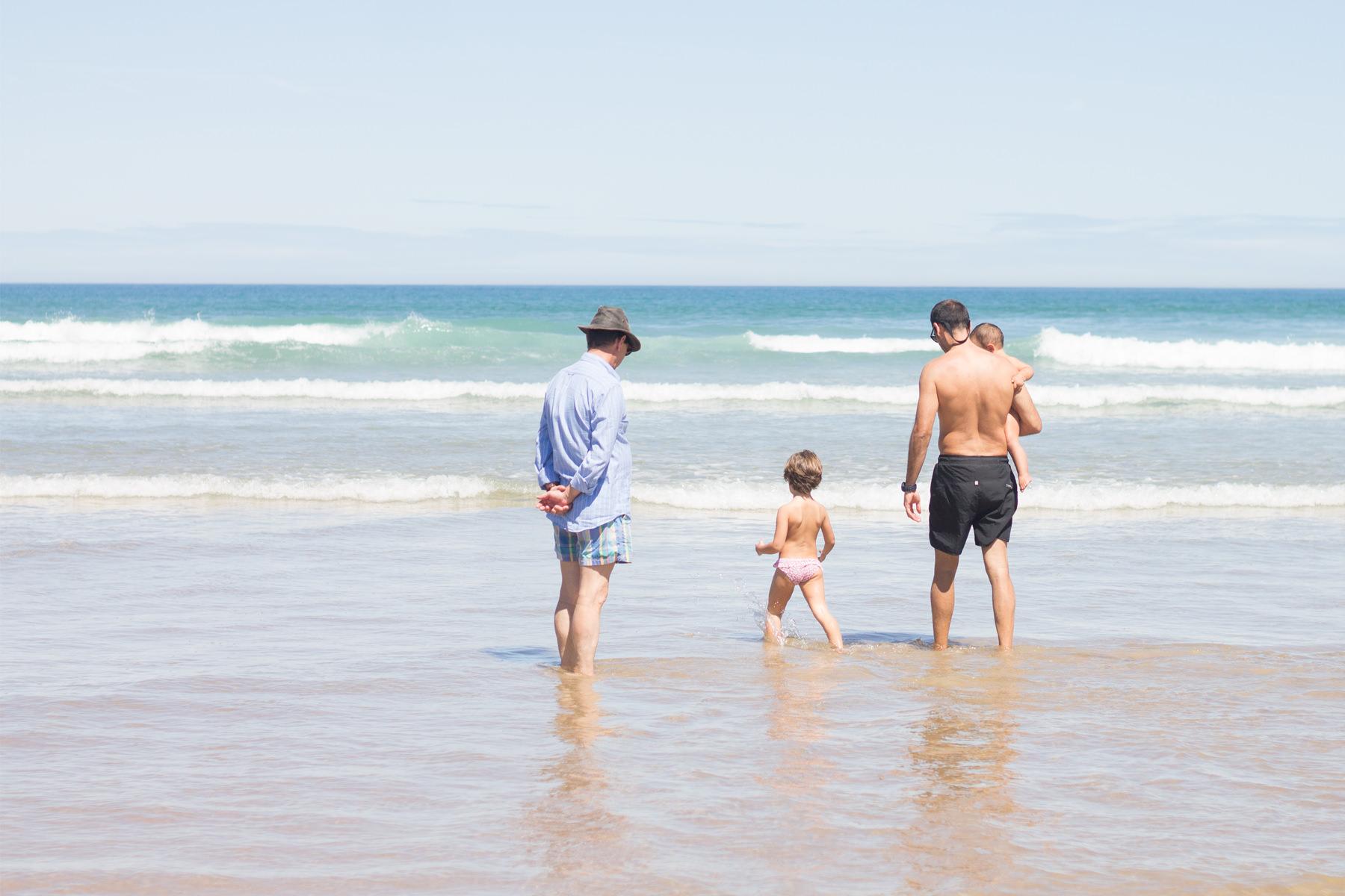 Ruta con niños por el norte. Playa Berria, Santoña