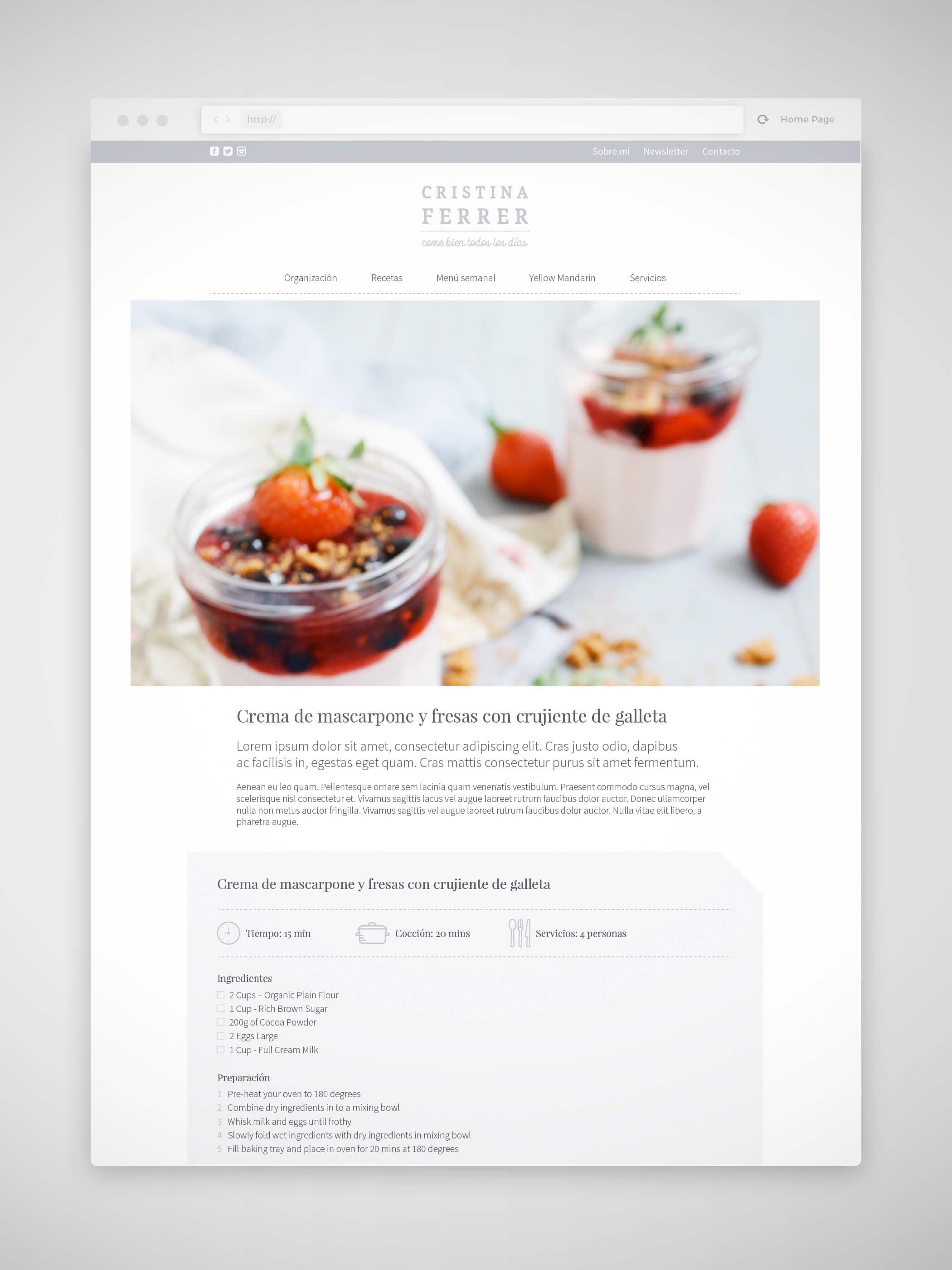 Diseño web Cristina Ferrer
