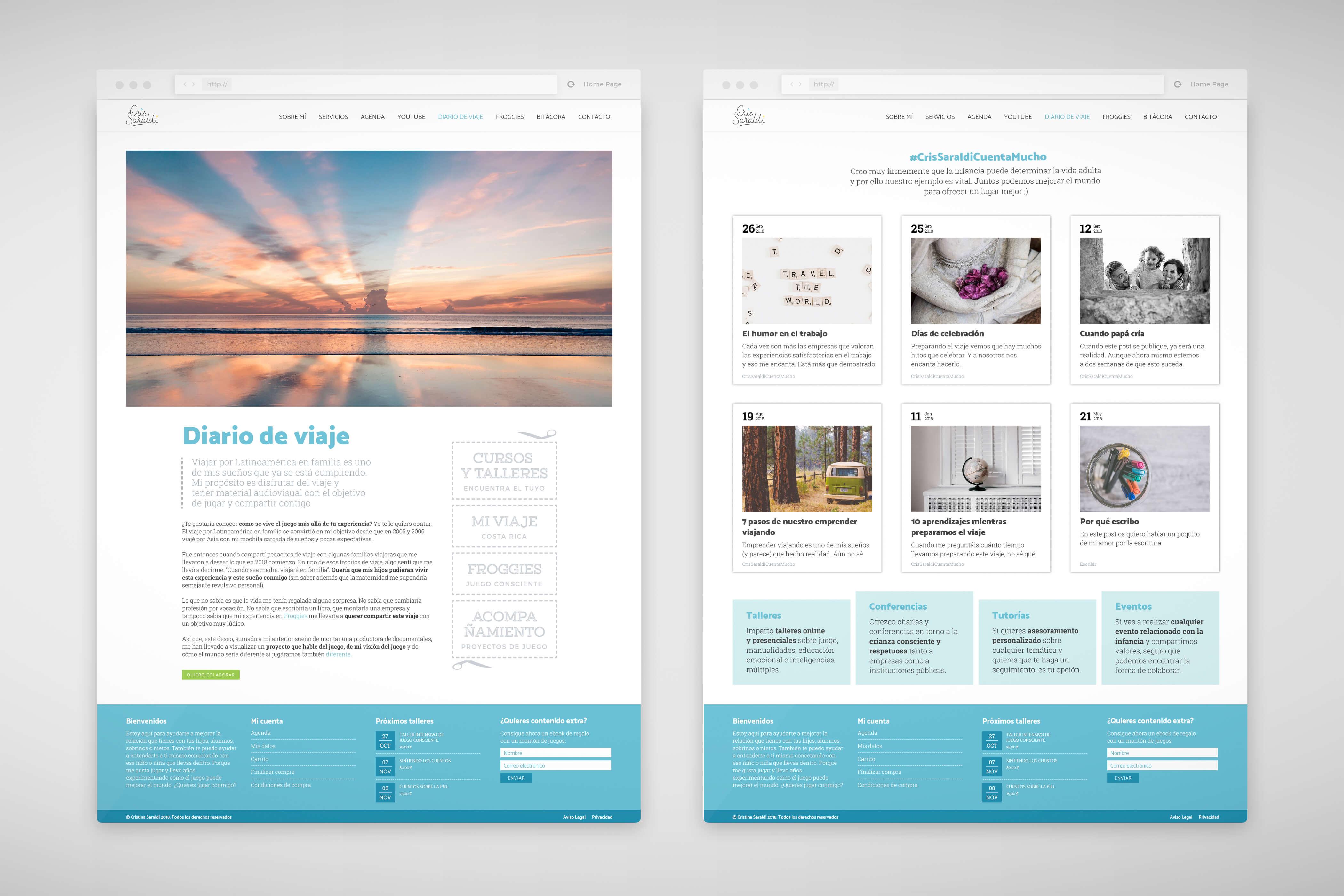 Diseño web Cristina Saraldi