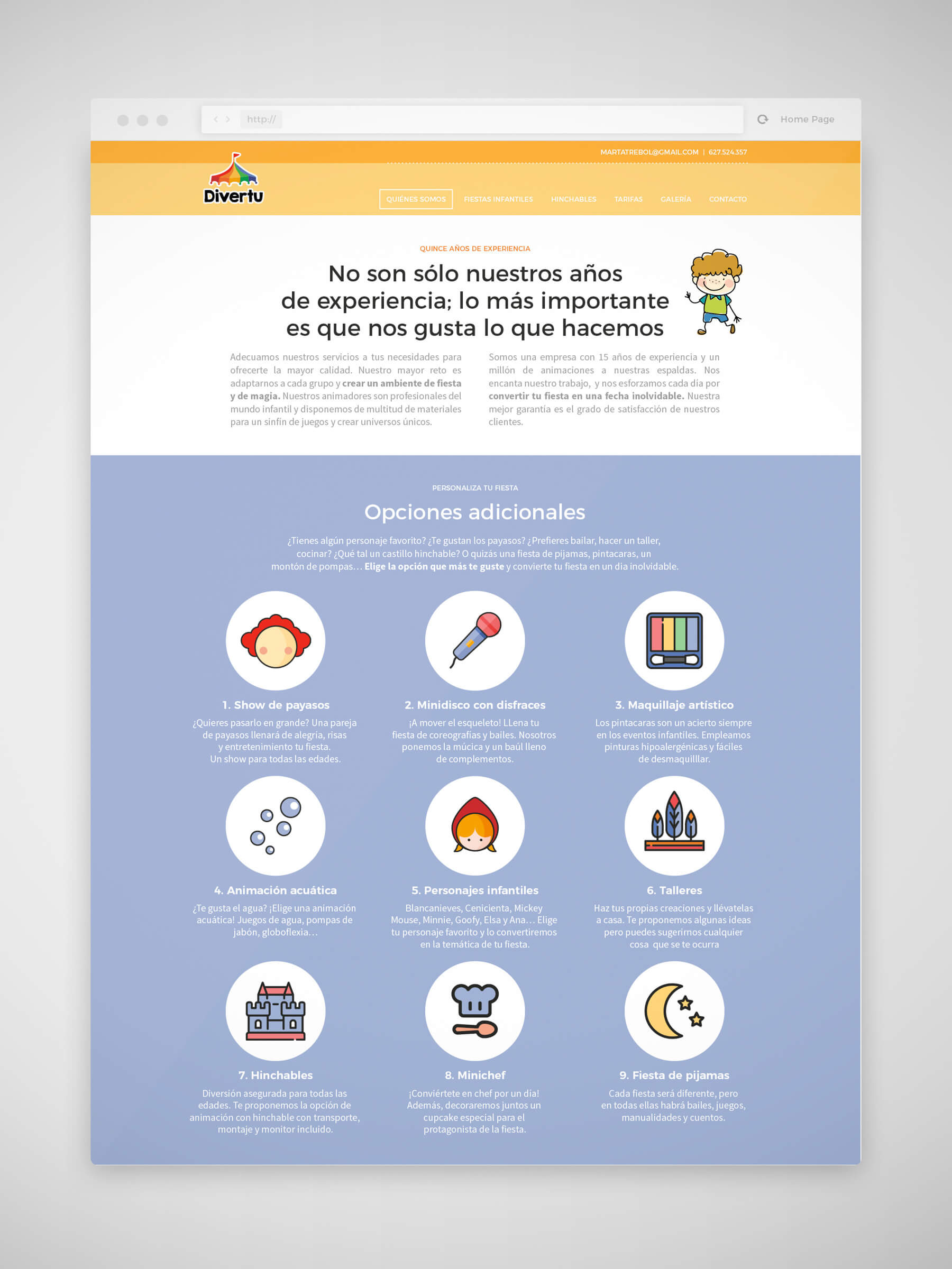 Diseño web Divertu