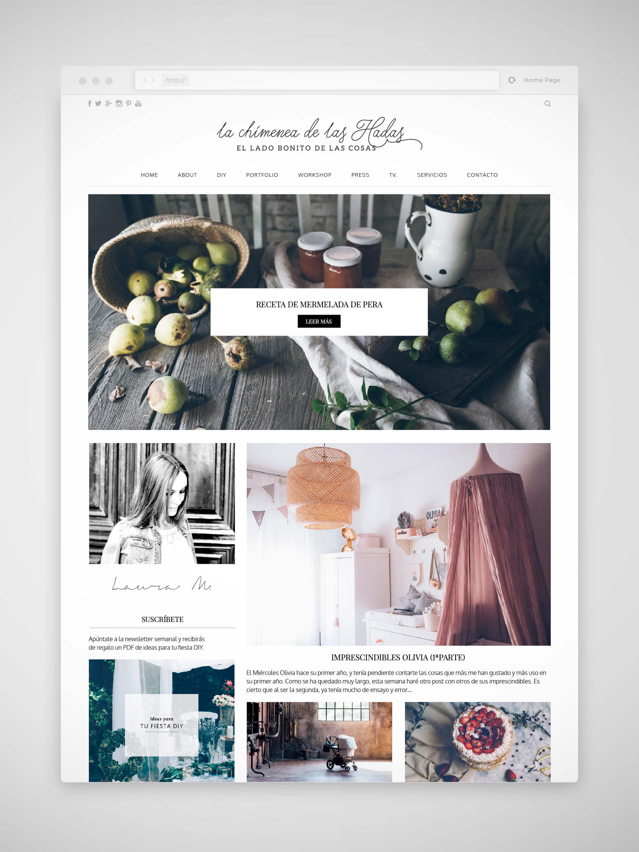 Diseño web La chimenea de las hadas